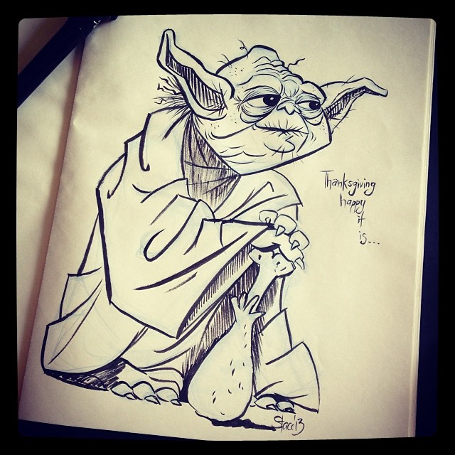 Inktober, is Yoda.